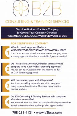 B2B Consulting & Training Services.